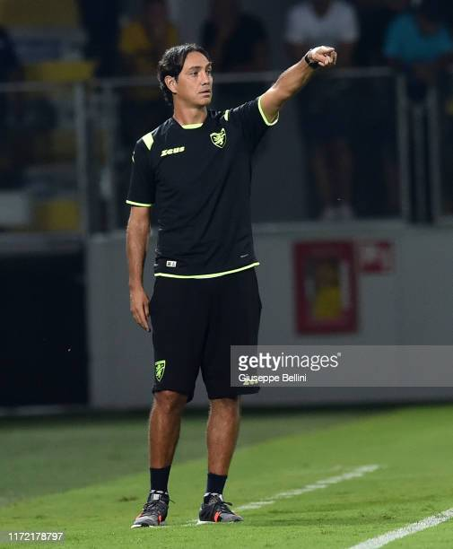 Alessandro Nesta head coach of Frosinone during the Serie B match between Frosinone and Ascoli Calcio at Stadio Benito Stirpe on September 1 2019 in...