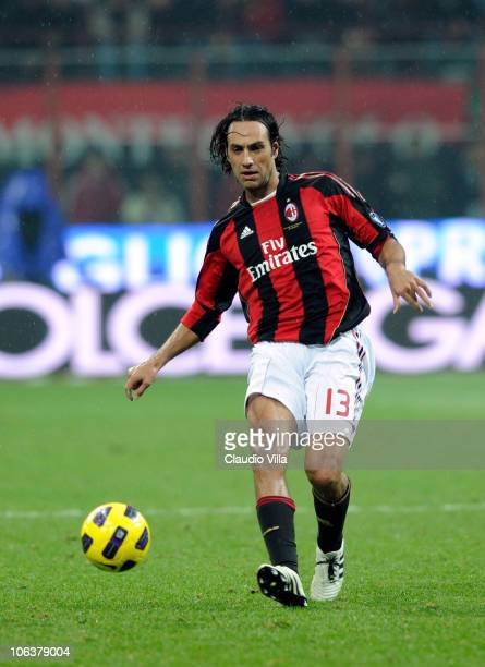 Alessandro Nesta of AC Milan during the Serie A match between Milan and Juventus at Stadio Giuseppe Meazza on October 30 2010 in Milan Italy