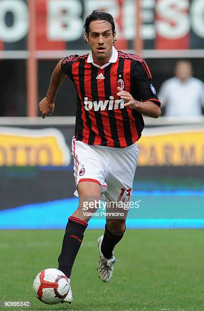 Alessandro Nesta of AC Milan in action during the Serie A match between AC Milan and Bologna FC at Stadio Giuseppe Meazza on September 20 2009 in...