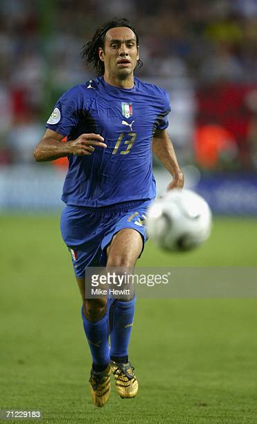 Alessandro Nesta of Italy chases the ball during the FIFA World Cup Germany 2006 Group E match between Italy and USA at the FritzWalter Stadium on...