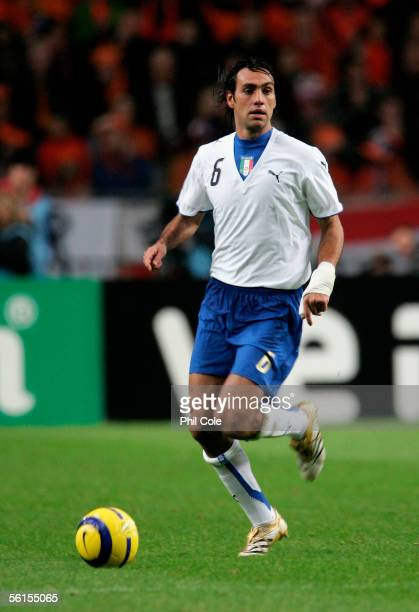 Alessandro Nesta of Italy in action during a friendly match at the Amsterdam Arena between the Netherlands and Italy on 12 November 2005 in Amsterdam...