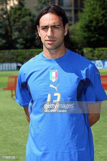 Alessandro Nesta of Italy poses during an official team group picture session on May 25 2006 in Coverciano