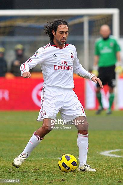 Alessandro Nesta of Milan in action during the Serie A match between AC Chievo Verona and AC Milan at Stadio Marc'Antonio Bentegodi on February 20...
