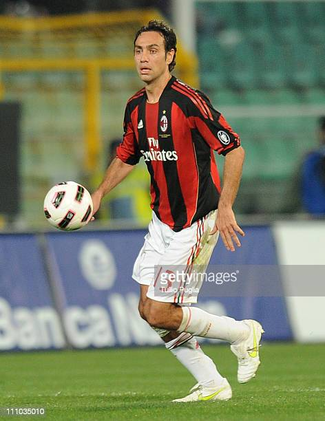 Alessandro Nesta of Milan in action during the Serie A match between US Citta di Palermo and AC Milan at Stadio Renzo Barbera on March 19 2011 in...