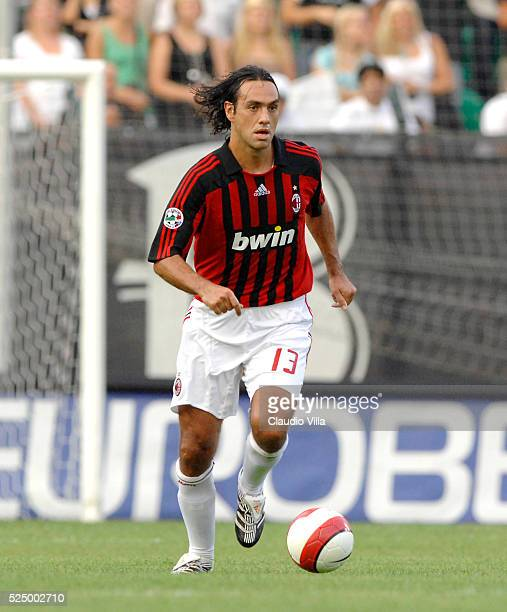 Alessandro Nesta of Milan in action during the 'Serie A' match between Siena and Milan at the 'Artemio Franchi' stadium in Siena