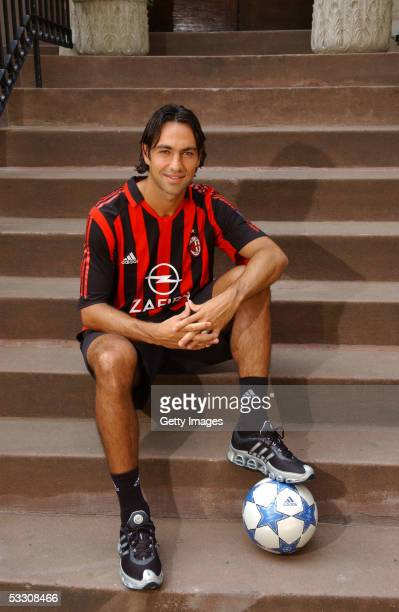 Alessandro Nesta of the AC Milan soccer team poses during a Portrait session July 30 2005 in New York City Nesta is in New York for part of AC...