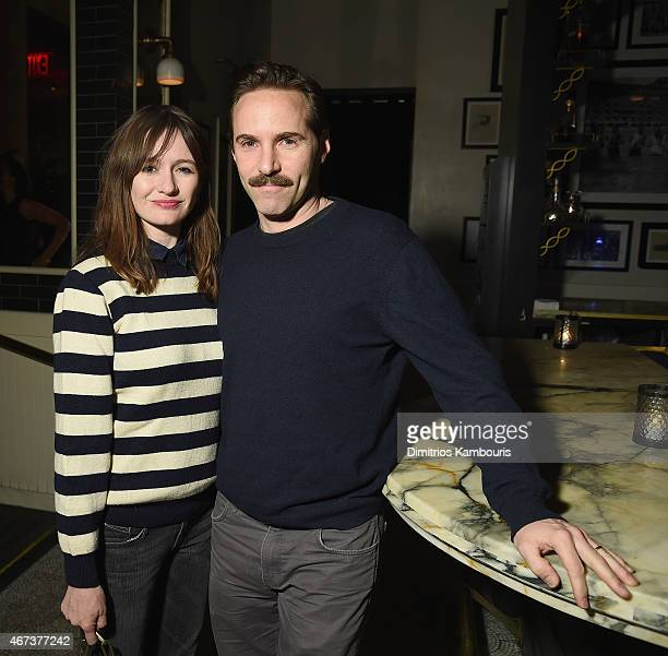 Alessandro Nivola and Emily Mortimer attend While We're Young New York Premiere after party at Lexington Brass on March 23 2015 in New York City