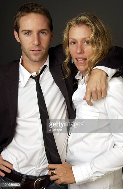 Alessandro Nivola and Frances McDormand during 2002 Toronto Film Festival 'Laurel Canyon' Portraits at Hotel InterContinental in Toronto Ontario...