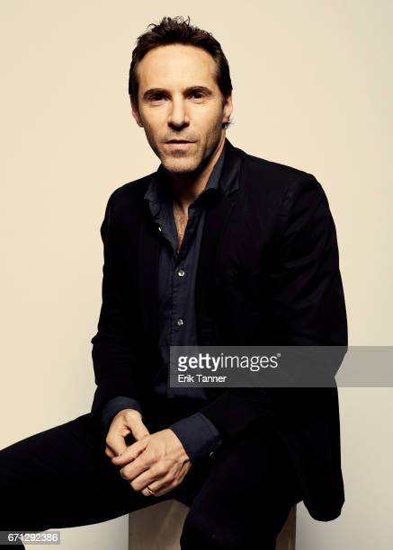 Alessandro Nivola from 'Broken Night' poses at the 2017 Tribeca Film Festival portrait studio on April 21 2017 in New York City