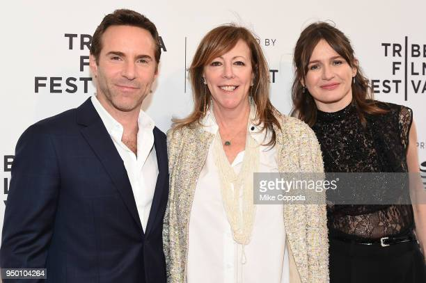 Alessandro Nivola Jane Rosenthal and Emily Mortimer attend a screening of To Dust during the 2018 Tribeca Film Festival at SVA Theatre on April 22...