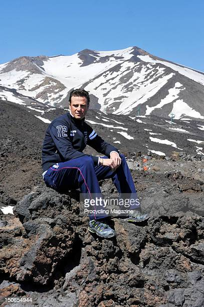 Alessandro Petacchi from Team Lampre, on location in Mount Etna, Italy, April 13, 2011.