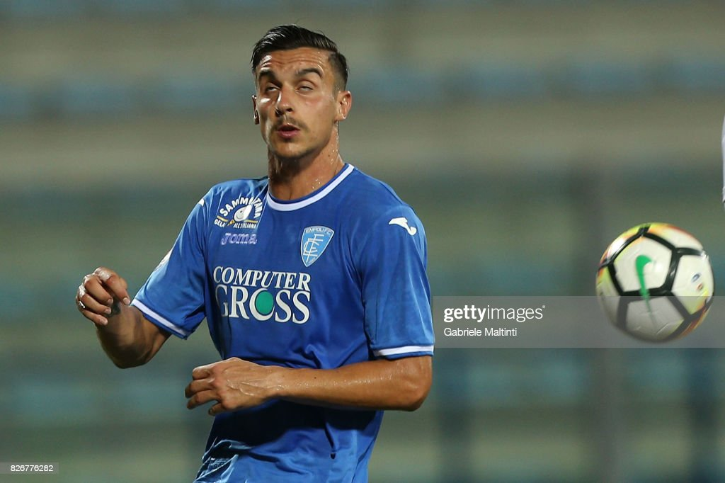 Alessandro Piu of Empoli Fc in action during the TIM Cup match between Empoli FC and Renate at Stadio Carlo Castellani on August 5, 2017 in Empoli, Italy.