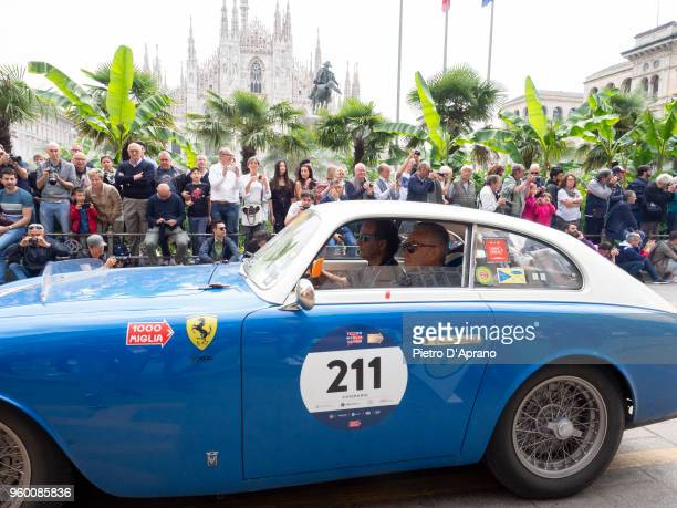 Alessandro Podini and Carlo Invernizzi on a Ferrari 212/225 S EXPORT BERL VIGNALE on 1000 Miles Historic Road Race May 19 2018 in Milan Italy