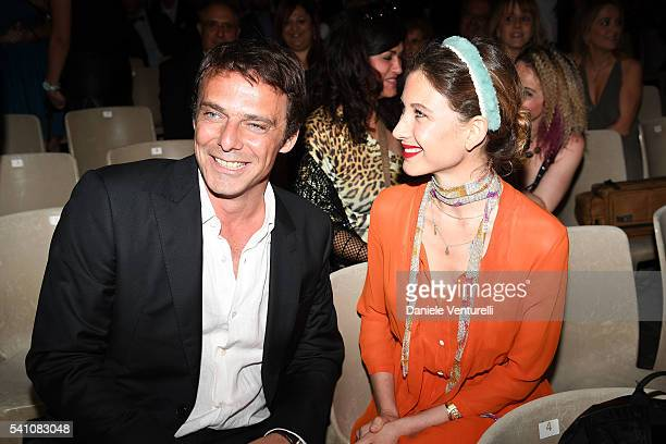 Alessandro Preziosi and Greta Carandini attend Baume Mercier Closing Night 62 Taormina Film Fest on June 18 2016 in Taormina Italy