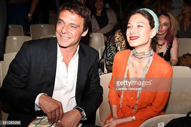 Alessandro Preziosi and Greta Carandini attend Baume Mercier Closing Night 62 Taormina Film Fest on June 18 2016 in Taormina Italy