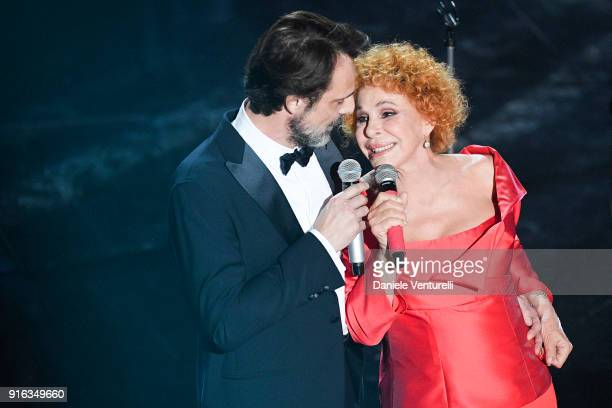 Alessandro Preziosi and Ornella Vanoni attend the fourth night of the 68 Sanremo Music Festival on February 9 2018 in Sanremo Italy