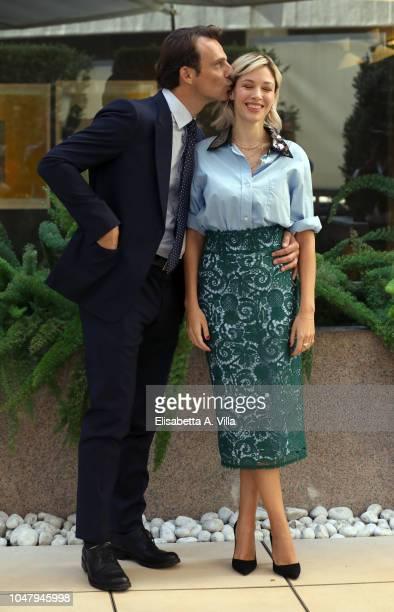 Alessandro Preziosi and Sarah Felberbaum attend Nessuno Come Noi photocall on October 9 2018 in Rome Italy