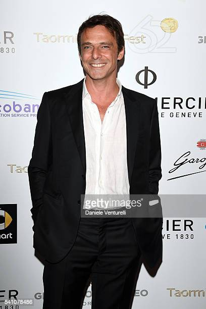 Alessandro Preziosi attends Baume Mercier Closing Night 62 Taormina Film Fest on June 18 2016 in Taormina Italy