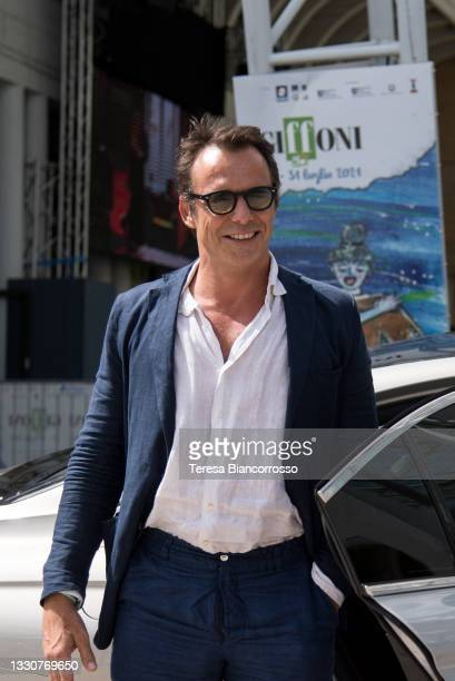 Alessandro Preziosi attends the blue carpet at the Giffoni Film Festival 2021 on July 26, 2021 in Giffoni Valle Piana, Italy.