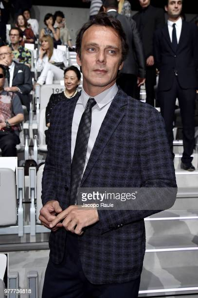 Alessandro Preziosi attends the Giorgio Armani show during Milan Men's Fashion Week Spring/Summer 2019 on June 18 2018 in Milan Italy