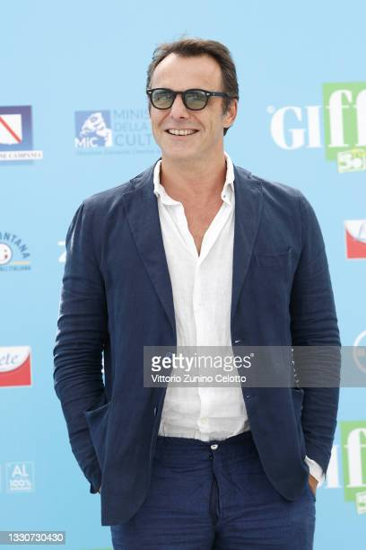 Alessandro Preziosi attends the photocall at the Giffoni Film Festival 2021 on July 26, 2021 in Giffoni Valle Piana, Italy.