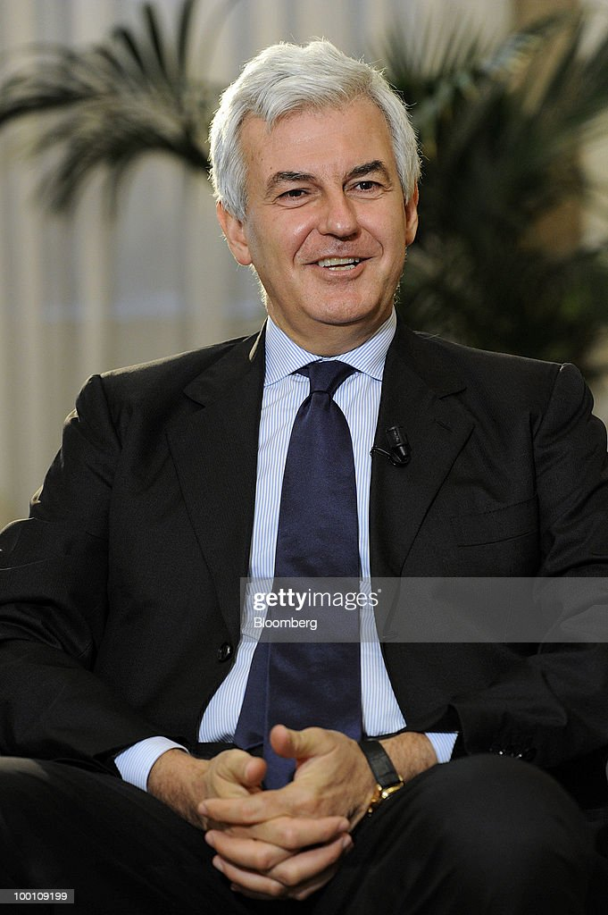 Alessandro Profumo, chief executive officer of UniCredit SpA, speaks during an interview in the bank's headquarters in Milan, Italy, on Friday, May 21, 2010. Profumo said that contagion from Greece's debt crisis will be managed and that Europe should concentrate on growth and not just cutting public debt. Photographer: Giuseppe Aresu/Bloomberg via Getty Images