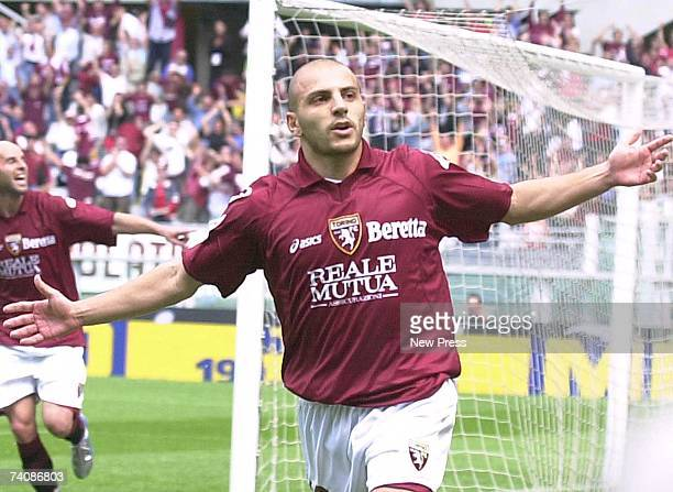 Alessandro Rosina of Torino celebrates scoring a goal during the Serie A football match between Torino FC and Ascoli Calcio 1898 at the Stadio...