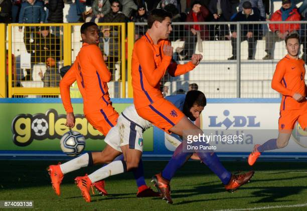 Alessandro Rossi of Italy U20 during the 8 Nations Tournament match between Italy U20 and Netherlands U20 at Stadio G Teghil on November 14 2017 in...