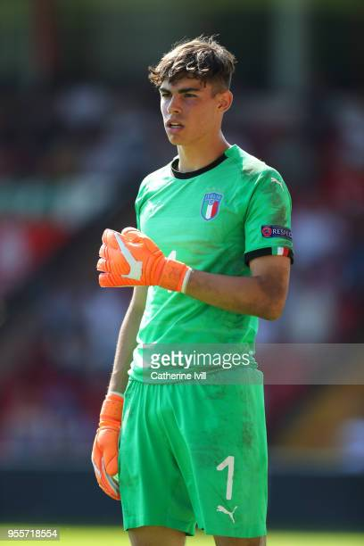Alessandro Russo of Italy during the UEFA European Under17 Championship at Bescot Stadium on May 7 2018 in Walsall England