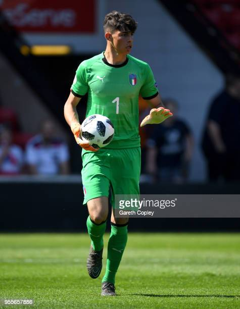 Alessandro Russo of Italy during the UEFA European Under17 Championship match between England and Italy at Bescot Stadium on May 7 2018 in Walsall...