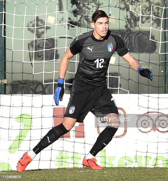 Alessandro Russo of Italy in action during the International Friendly match between Italy U19 and France U19 at Stadio Artemio Franchi on February 13...