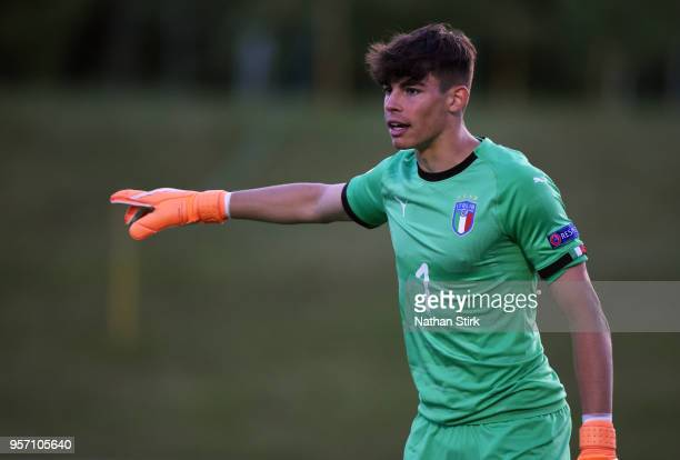 Alessandro Russo of Italy looks during the UEFA European Under17 Championship match between Israel and of Italy at St Georges Park on May 10 2018 in...