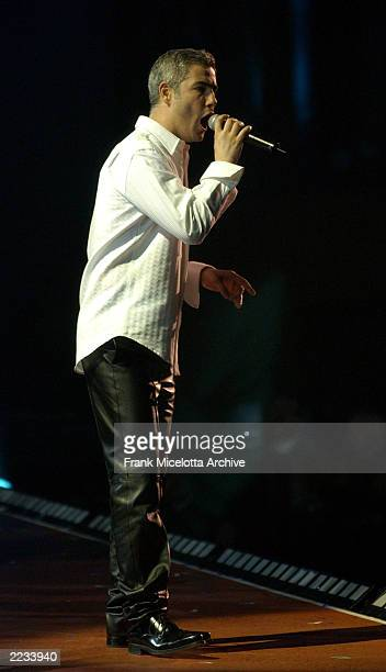 Alessandro Safina performs on the 7 Eleven One World Jam A Concert for Global Harmony at Radio City Music Hall in New York City July 11 2002 Photo by...