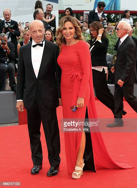 Alessandro Sallusti and Daniela Santanche attend the opening ceremony and premiere of 'Everest' during the 72nd Venice Film Festival on September 2...
