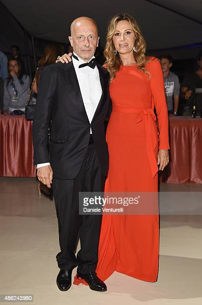 Alessandro Sallusti and Daniela Santanche attend the opening dinner during the 72nd Venice Film Festival on September 2 2015 in Venice Italy
