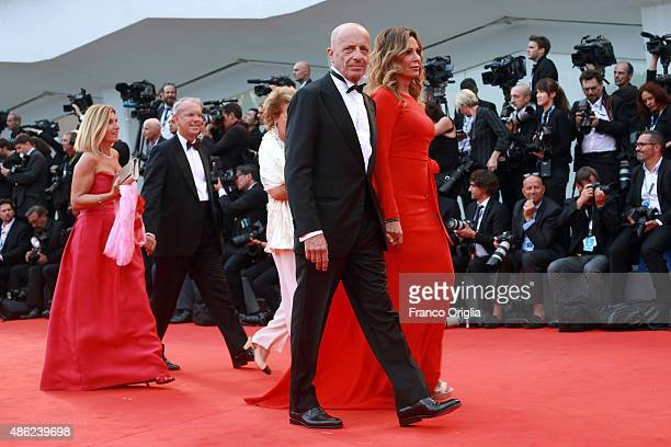 Alessandro Sallusti and Daniela Santanche attends the opening ceremony and premiere of 'Everest' during the 72nd Venice Film Festival on September 2...
