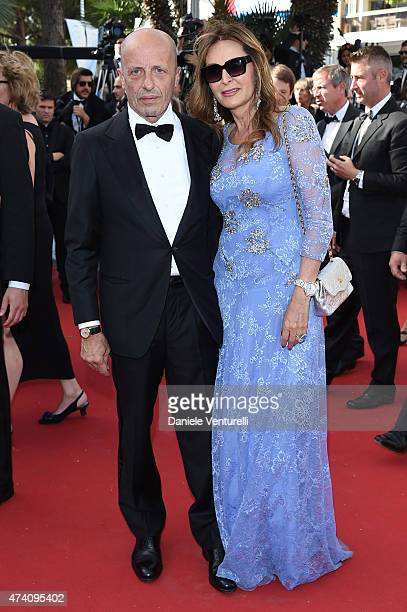 Alessandro Sallusti and Daniela Santanche attends the 'Youth' Premiere during the 68th annual Cannes Film Festival on May 20 2015 in Cannes France