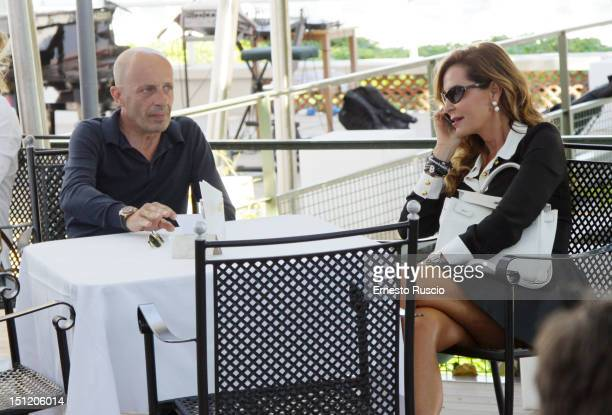 Alessandro Sallusti and Daniela Santanche sighting during the The 69th Venice Film Festival at Hotel Excelsior on August 29 2012 in Venice Italy