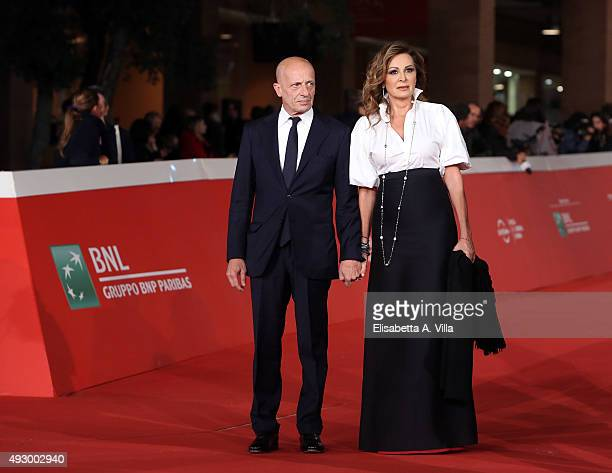 Alessandro Sallusti and Daniela Santanche walk the red carpet for 'Truth' during the 10th Rome Film Fest at Auditorium Parco Della Musica on October...