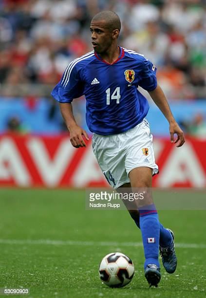 Alessandro Santos of Japan in action during the FIFA Confederations Cup Match between Japan and Mexico at the AWD Arena on June 16 2005 in Hanover...