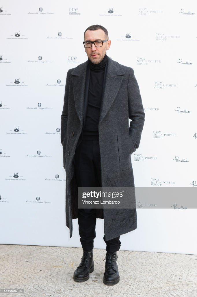 Alessandro Sartori attends 'Italiana. L'Italia Vista Dalla Moda 1971-2001' exhibition preview during Milan Fashion Week Fall/Winter 2018/19 at Palazzo Reale on February 21, 2018 in Milan, Italy.