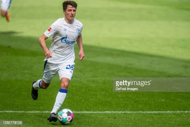 Alessandro Schoepf of FC Schalke 04 controls the Ball during the Bundesliga match between TSG Hoffenheim and FC Schalke 04 at PreZero-Arena on May 8,...