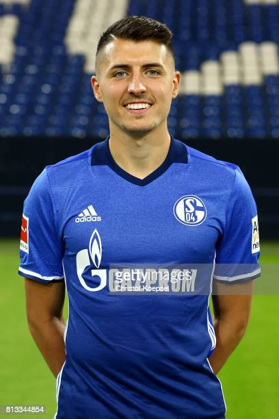 Alessandro Schoepf of FC Schalke 04 poses during the team presentation at Veltins Arena on July 12 2017 in Gelsenkirchen Germany