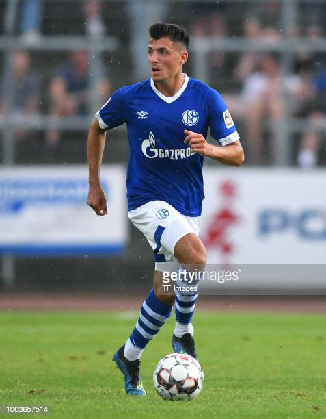 Alessandro Schoepf of Schalke controls the ball during the Friendly match between Schwarz Weiss Essen and FC Schalke 04 on July 21 2018 in Essen...