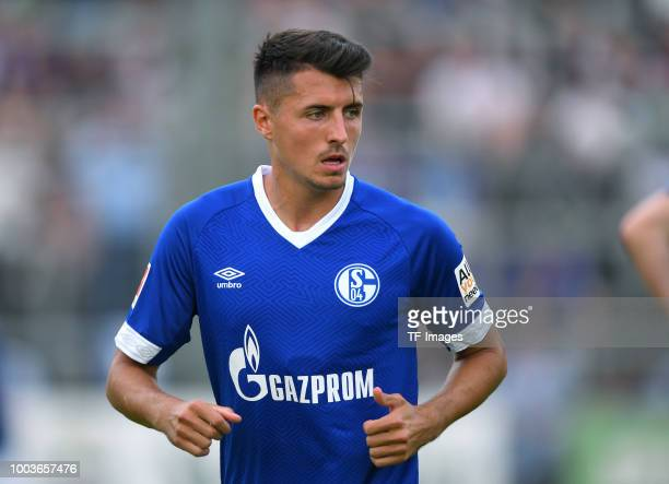Alessandro Schoepf of Schalke looks on during the Friendly match between Schwarz Weiss Essen and FC Schalke 04 on July 21 2018 in Essen Germany