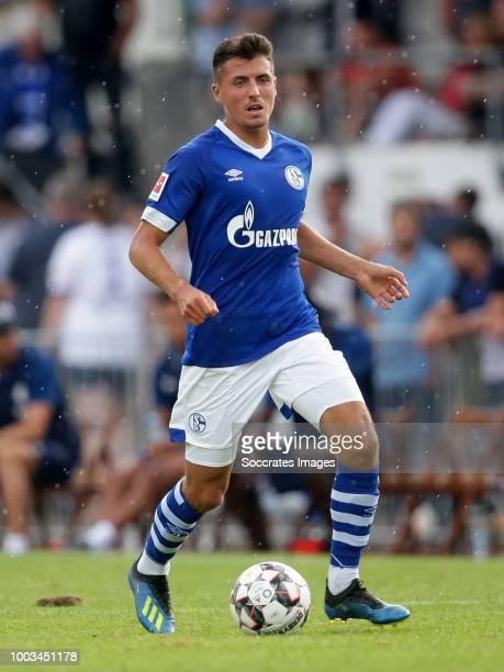 Alessandro Schopf of Schalke 04 during the Club Friendly match between Schalke 04 v Schwarz Weiss Essen at the Uhlenkrugstadion on July 21 2018 in...
