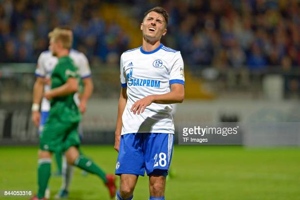 Alessandro Schöpf of Schalke looks on during the preseason friendly match between FC Gütersloh and FC Schalke 04 on August 31 2017 in Gütersloh...