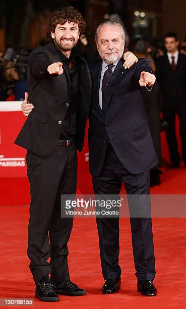 Alessandro Siani and Aurelio De Laurentis attend the 'Toto 3D' premiere during the 6th International Rome Film Festival on October 29 2011 in Rome...