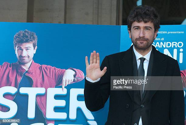"""Alessandro Siani attends a photocall for """"Mister Felicita"""". Mister Felicità, a film directed by himselff."""