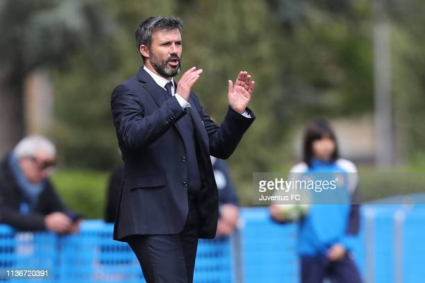 Alessandro Spugna manager of Juventus Women U19 gestures during the Serie A Primavera Final Four match between Juventus U19 Women and FC...